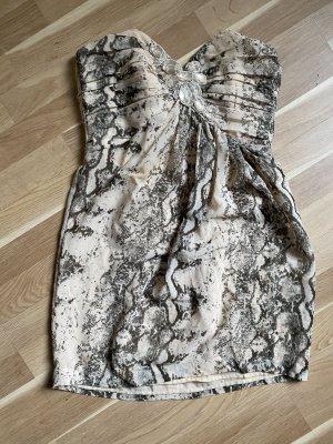 Kleid bustierkleid Schlange beige Frau XL 42