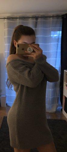 Missguided Robe en maille tricotées gris