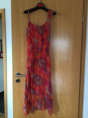 Conleys Vestido estilo flounce rojo Seda
