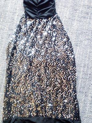 Robe à paillettes noir tissu mixte