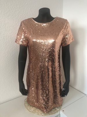 SheIn Vestido de lentejuelas color rosa dorado