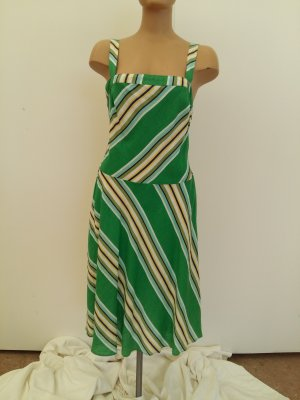 Monsoon One Shoulder Dress green cotton
