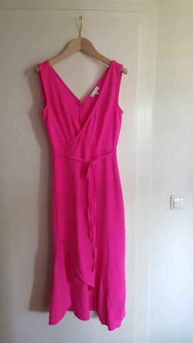Warehouse Robe d'été rose-rose fluo polyester