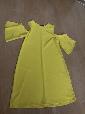 Bershka Robe Babydoll jaune fluo