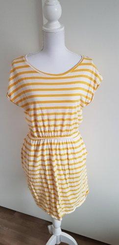 H&M Sukienka o kroju koszulki biały-żółty
