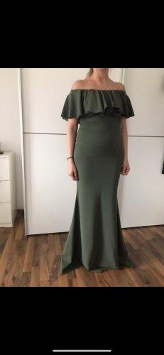 Vestido de baile gris verdoso