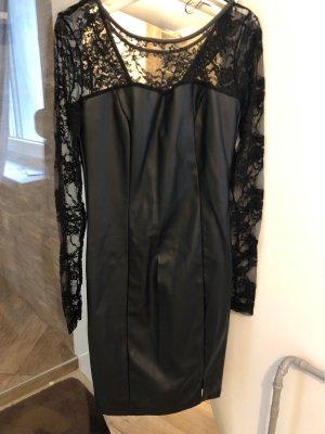Amisu Leather Dress black