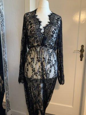 Kleid ca 46-48 schwarz spitze Schwangerschaft maxi