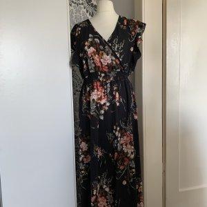 Kleid ca Gr 46-48 maxi mit Blüten