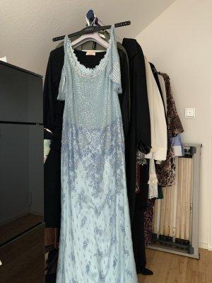 Escada Robe de soirée bleu clair soie