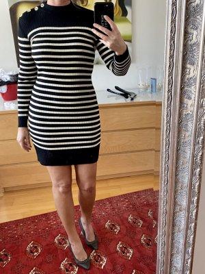 Cacharel Robe en maille tricotées noir-blanc