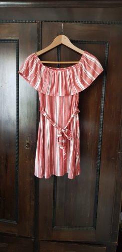 Asos Sukienka bez ramiączek biały-jasnoczerwony