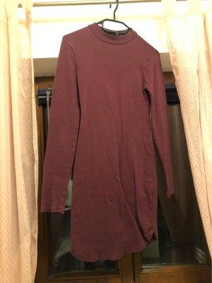 Forever 21 Vestido de tela de sudadera burdeos