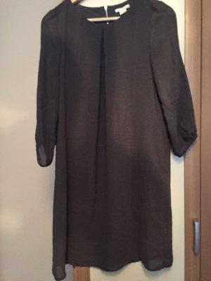 H&M Vestido de chifón gris antracita