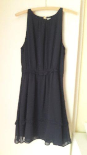 H&M Basic Chiffon Dress dark blue