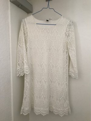 H&M Divided Robe Hippie blanc