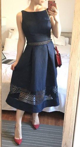 Chi Chi London Midi Dress dark blue