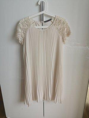 Zara Woman Chiffon Dress natural white-cream