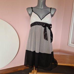 kleid Chiffonkleid Empirekleid Mini Minikleid XS 34 Amisu Hängerchen Babydoll