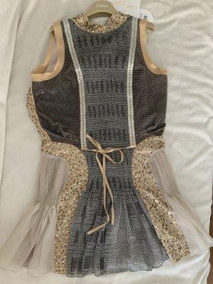 Kleid Chloe beige Silber große