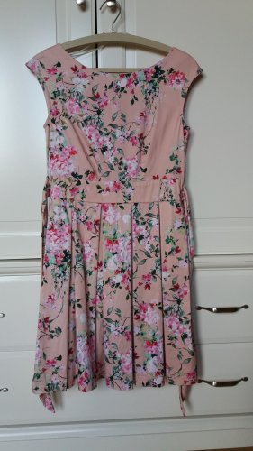 Kleid Closet London Blumen Pink Rosa