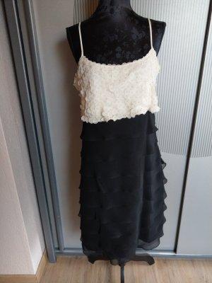 Kleid Cocktailkleid Abendkleid schwarz creme 1 2 3 un deux trois