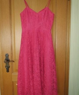 Kleid, Cocktailkleid, Gr.36/38, rosa, Spitze, neu