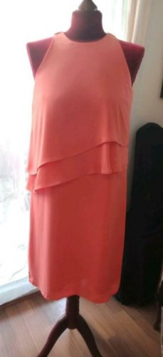 Esprit Chiffon Dress salmon-apricot polyester