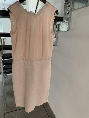 Comma Sukienka mini różany-w kolorze białej wełny