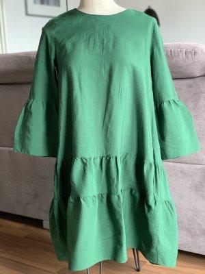 COS A-lijn jurk bos Groen-grasgroen