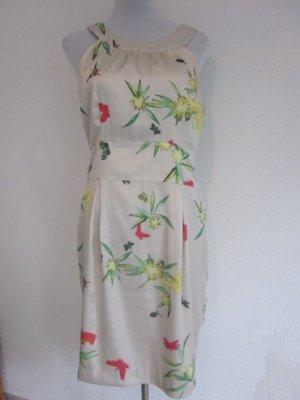 Kleid Creme mit Schmetterlingen und Blüten Gr M