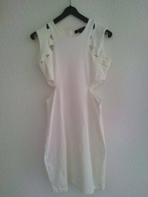Kleid Cut Out weiß blickdicht Haoduoyi
