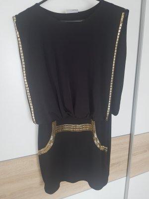 Clockhouse Mini-jurk zwart-goud