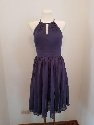JJ''S House Sukienka z dekoltem typu halter stalowy niebieski