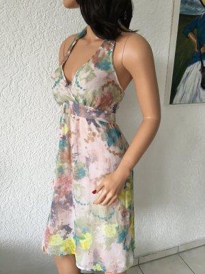 Dept Halter Dress white-dusky pink