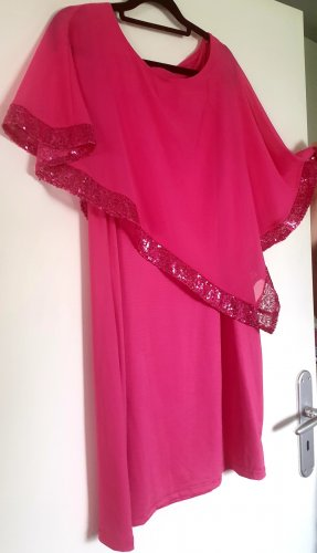 Robe à paillettes rose