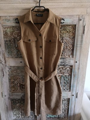 Laura Scott Robe manteau gris brun