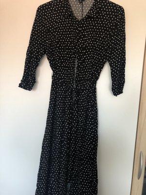 Manguun Maxi Dress black-white viscose