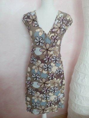 Made in Italy Vestido ceñido de tubo color rosa dorado-gris claro Viscosa