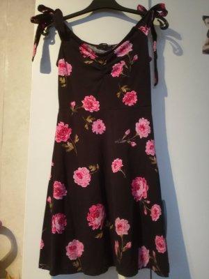 Kleid Damen schwarz und Blumen