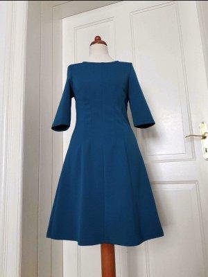Kleid Darling XS 34 petrol Vintage Business wie Neu femininer Schnitt