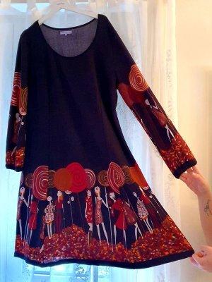 Anna Field Robe en laine noir-rouge