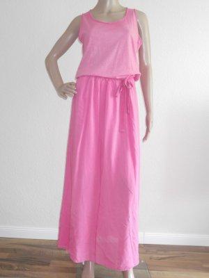 Aust Robe longue rose coton