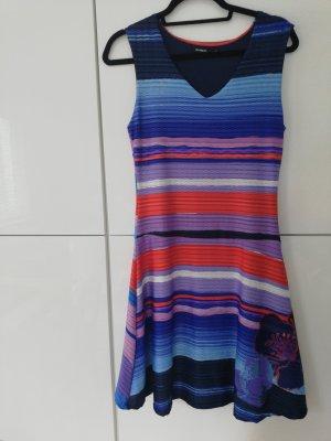 Kleid Desigual M 38 bunt blautöne wie neu