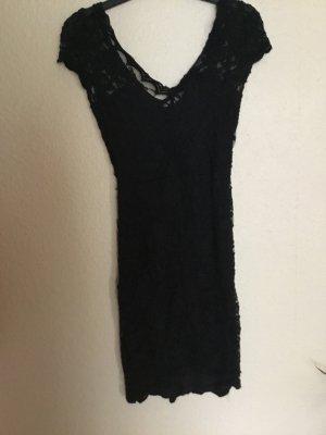 Bershka Kanten jurk zwart