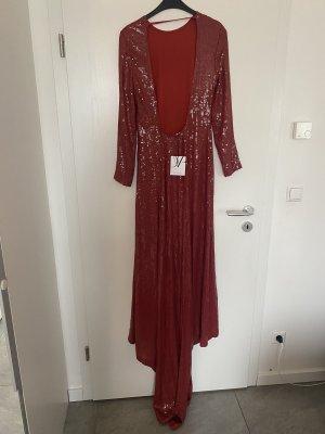 Diane von Fürstenberg Abito con paillettes rosso-rosso scuro