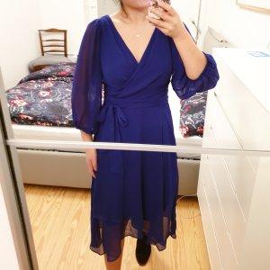 DKNY Robe mi-longue bleu-bleu foncé