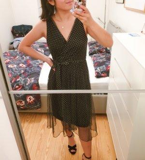 Kleid DKNY neu mit Etikett schwarz weiß Polkadot Designer