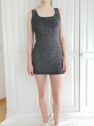 Kleid Dress Glitzer silber schwarz 38 S Glam Partydress Pimkie true Vintage Partykleid sommerkleid