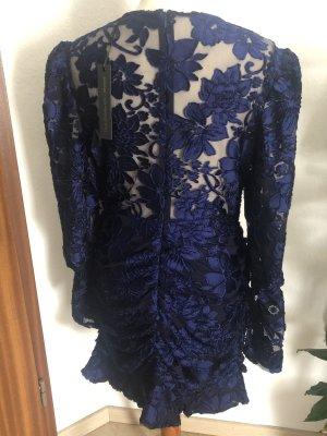 Kleid dress Navy neu Gr L blogger spitze minidress revolve party